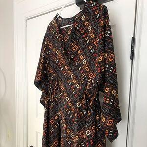 Isabel Marant Tizy Printed Silk Casual Maxi Dress